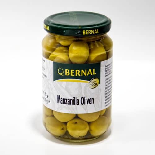 manzanilla oliven im glas front