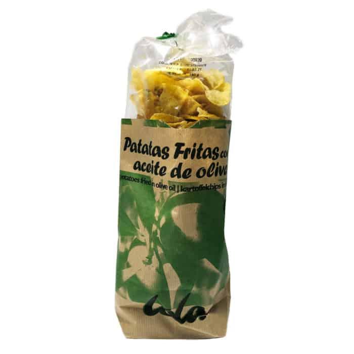 patatas fritas con aceite de oliva chips mit olivenoel front