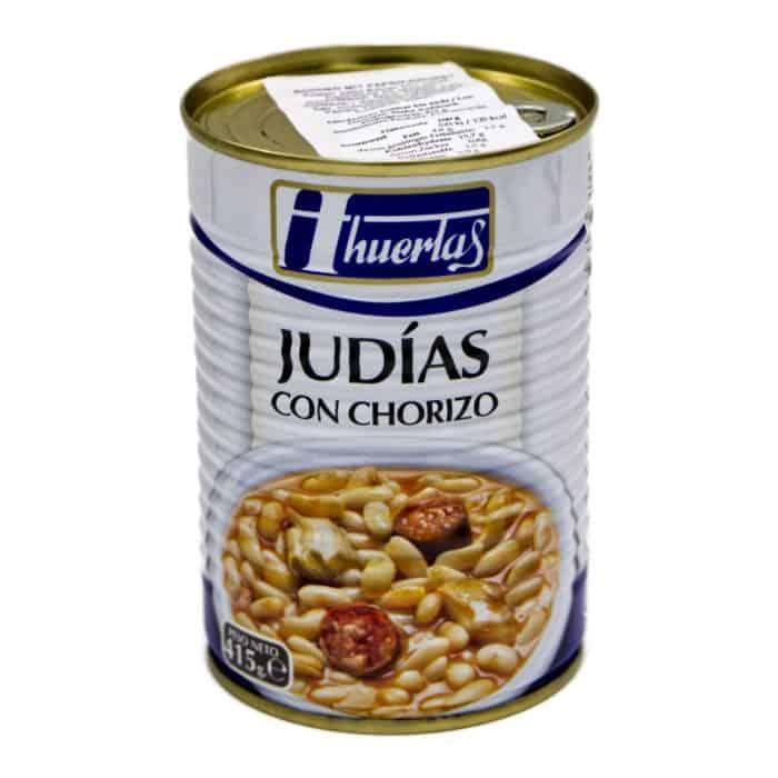 judias con chorizo huertas weisse bohnen mit paprikawurst 415g front