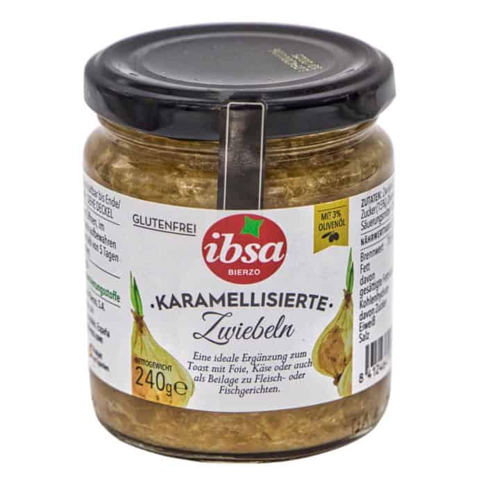 caramelizados cebolla ibsa karamellisierte zwiebeln 240g front