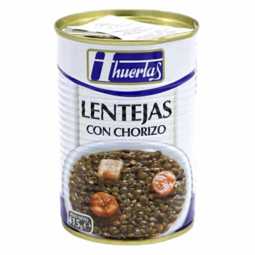 lentejas con chorizo huertas linsen mit paprikawurst 415g front