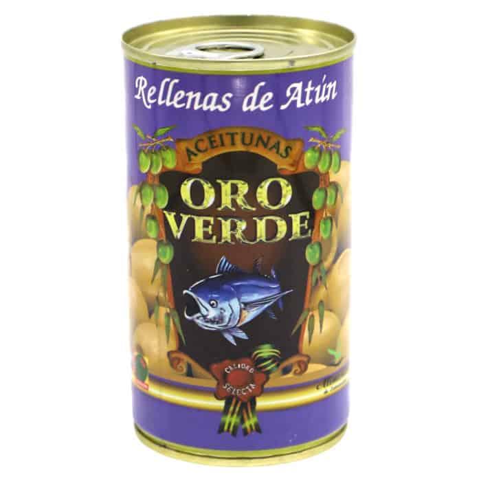 oro verde–rellenas de atún 150g–gruene oliven mit thunfischpaste gefuellt front