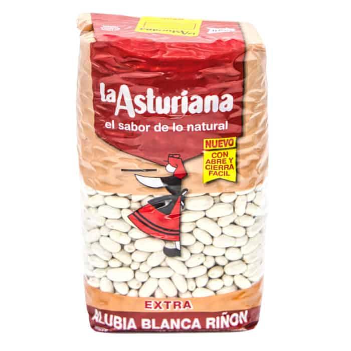 alubia blanca riñon la asturiana weisse bohnen 1kg front