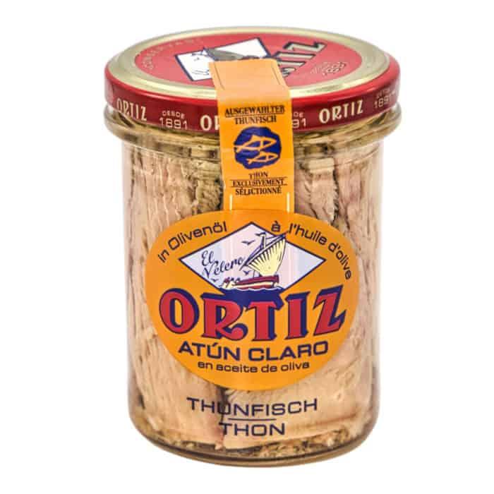 atún claro en aceite de oliva ortiz heller thunfisch in olivenoel 150g front