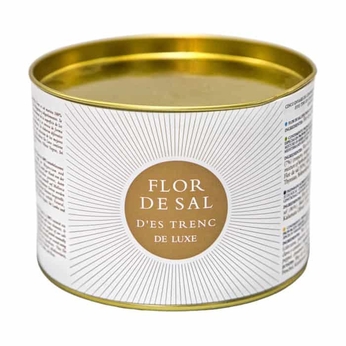 flor de sal des trenc de luxe conjunto de 5 variedades original mallorquinisches bio gewuerzsalz set aus 5 sorten 150g front