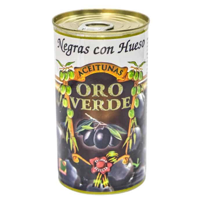 oro verde negras con hueso 150g schwarze oliven mit kernen front