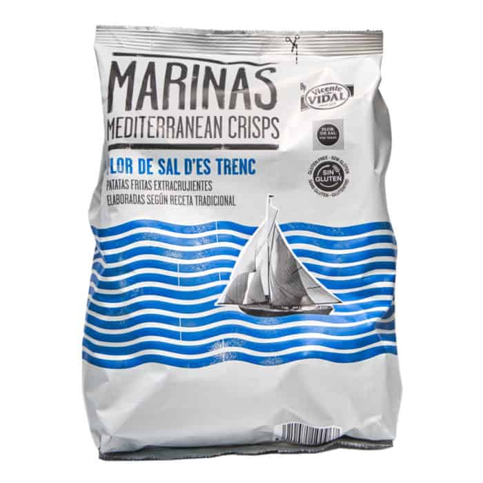 patatas fritas extracrujientes flor de sal des trenc marinas mediterranean crisps chips extra knusprig 150g front
