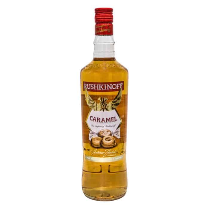 rushkinoff caramel licor rushkinoff caramel likoer 1l front