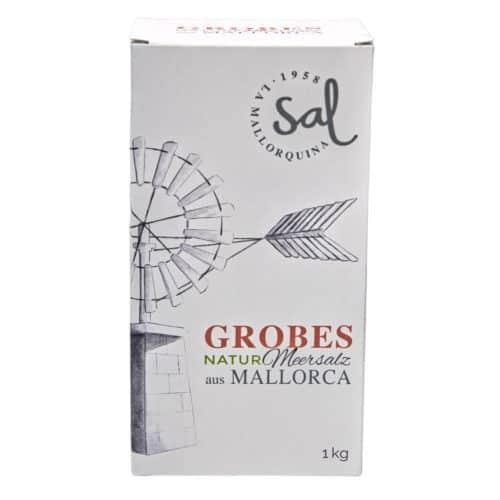 sal marina natural gruesa de mallorca la mallorquina sal grobes natur meersalz aus mallorca 1kg front