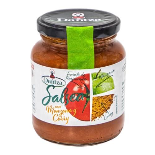 salsea con manzana y curry dantza tomatensauce mit apfel und curry 345g front