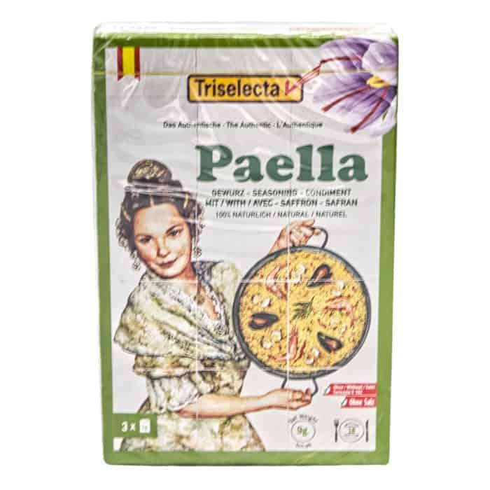 sazonador paella con azafrán 100 natural triselecta paellagewuerz mit safran 100 natuerlich 3x 3g front