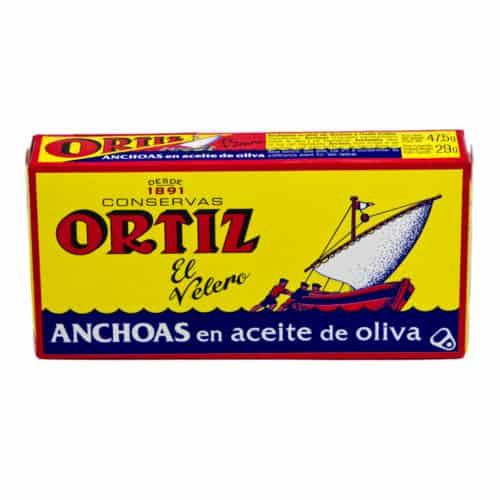 anchoas en aceite de oliva ortiz sardellen in olivenoel 29g front