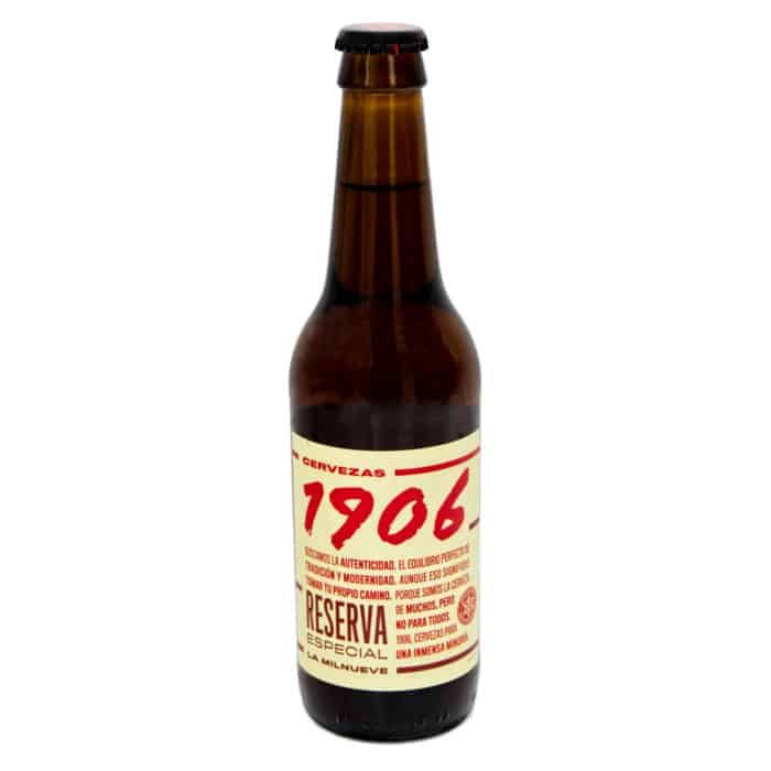 cerveza 1906 reserva especial spanisches bier 033l front