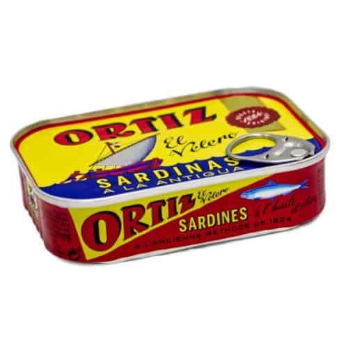 sardinas en aceite de oliva ortiz sardinen in olivenoel 100g front