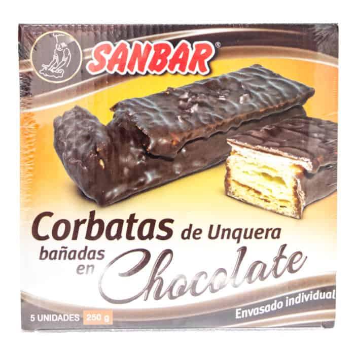 corbatas de unquera banadas en chocolate sanbar in schokolade getauchte unquera krawatten 5 stueck 250g front