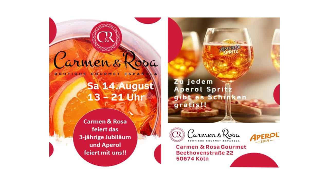 Event CarmenRosa Aperol 3 Jahre
